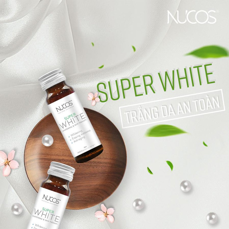 NUCOS Super White Whitening & Shining Skin (50ml x 10 Chai)