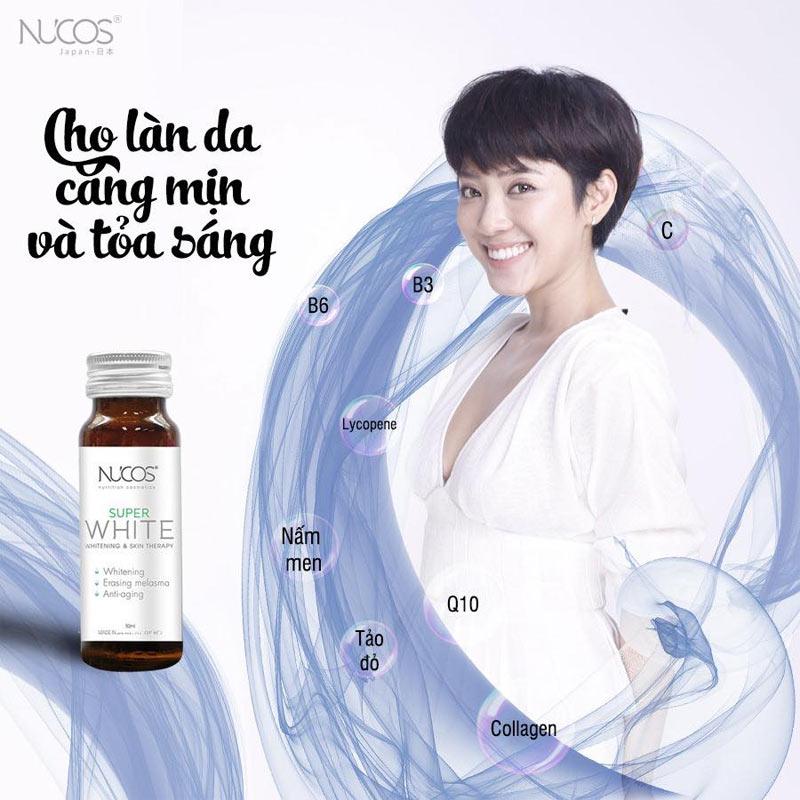 Nước Uống NUCOS Super White Whitening & Shining Skin (50ml x 10 Chai)