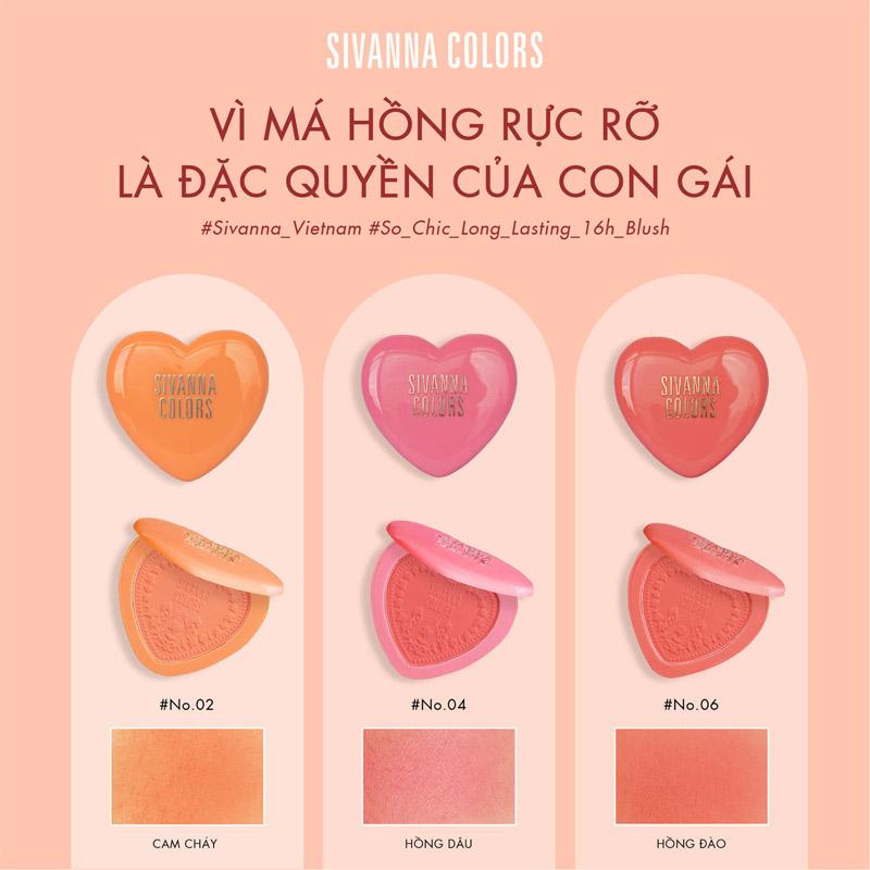 Phấn Má Sivanna Colors So Chic Long-Lasting 16 Hours Blush 6g
