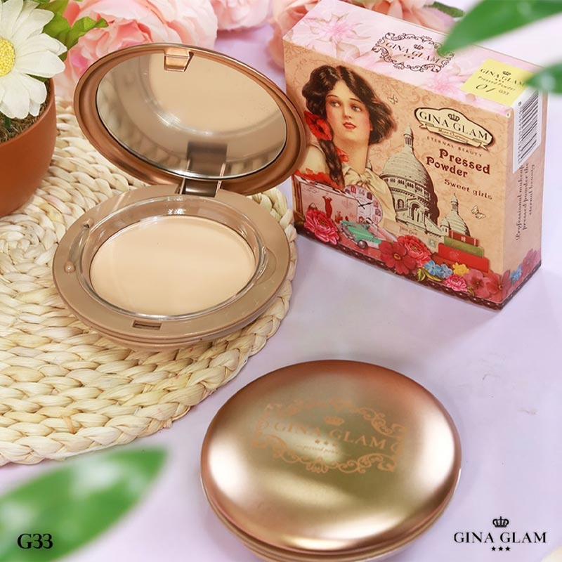 Phấn Nền Gina Glam Pressed Powder Sweet Girls 15g