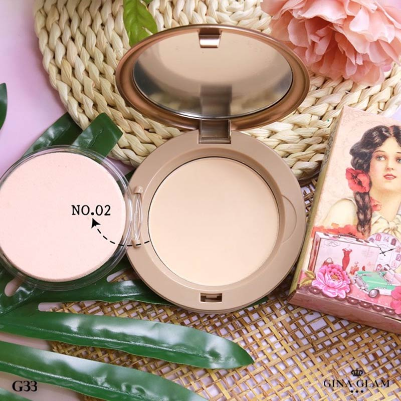 Phấn Nền Gina Glam Pressed Powder Sweet Girls 15g màu 02