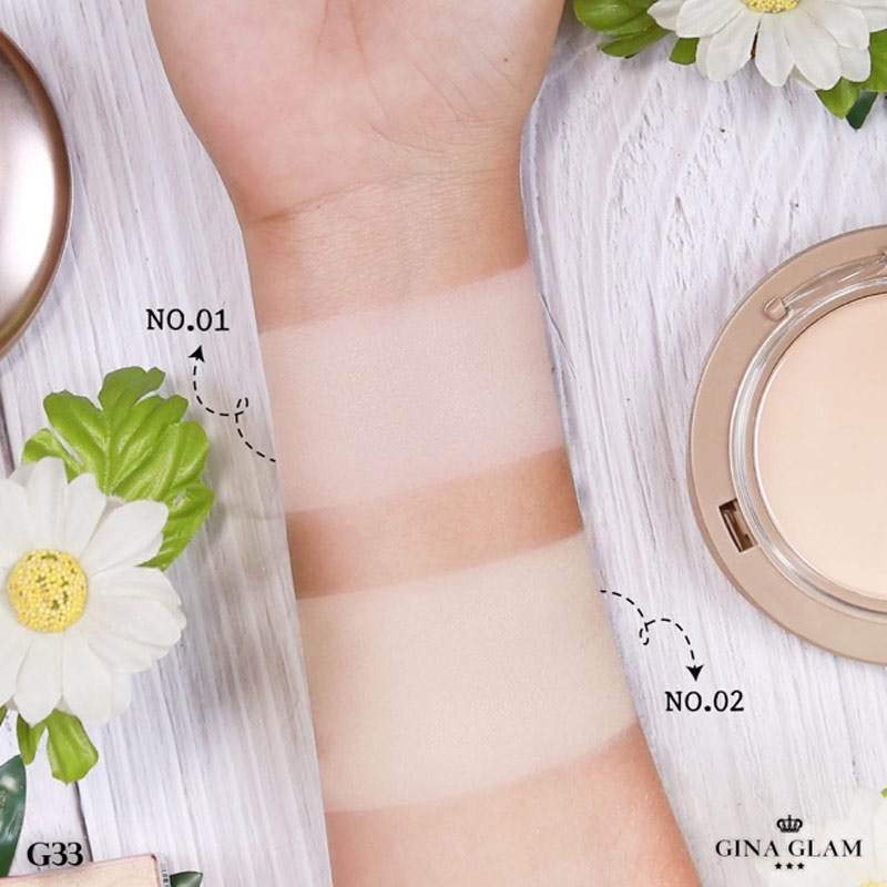 Phấn Nền Gina Glam Pressed Powder Sweet Girls 15g Hasaki