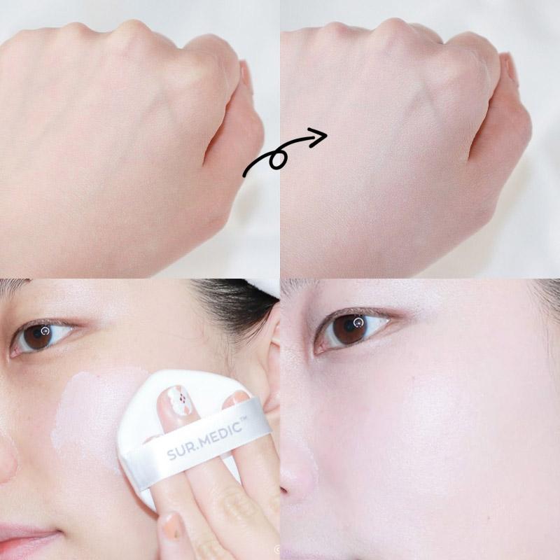 Texture Phấn Nước Sur.Medic+ Chống Nắng, Dưỡng Ẩm, Che Phủ Cao Protection Moisture Sun Cushion SPF50+ PA+++ 15g