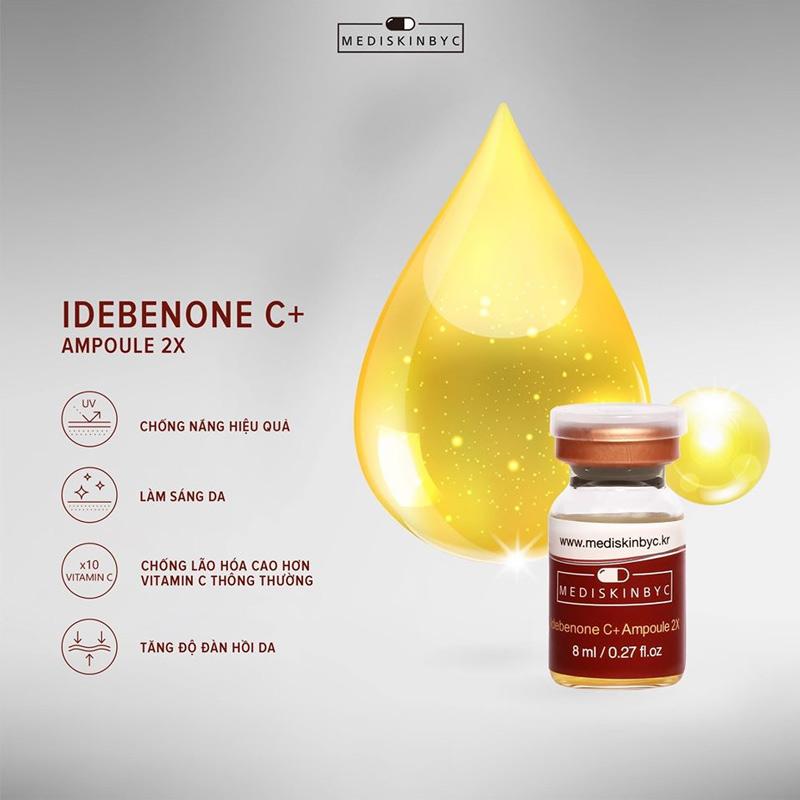 Set 2 Chai Tinh Chất MediskinbyC Ngăn Ngừa Lão Hóa Idebenone C+ Ampoule 2X