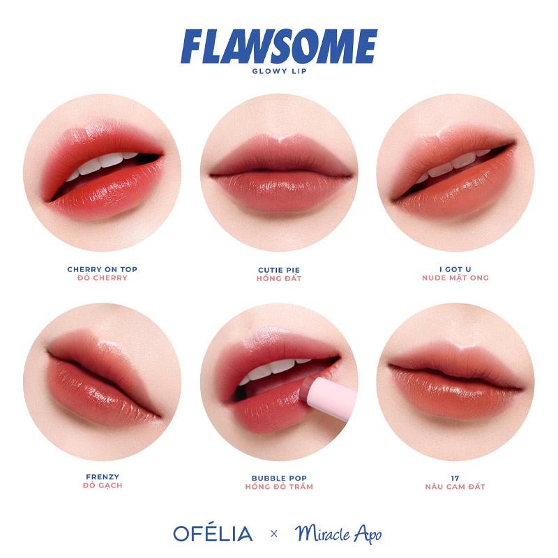 Full bảng màu Set Son Miracle Apo x Ofélia Flawsome 2x2g