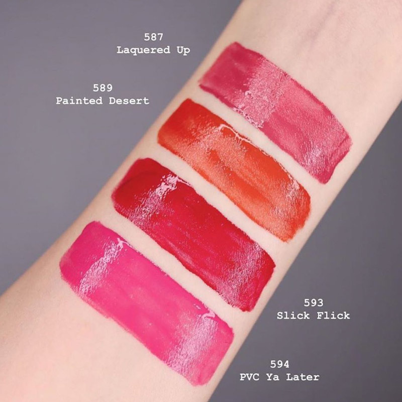 Swatch tay Son Kem Bóng MAC Patent Paint Lip Lacquer