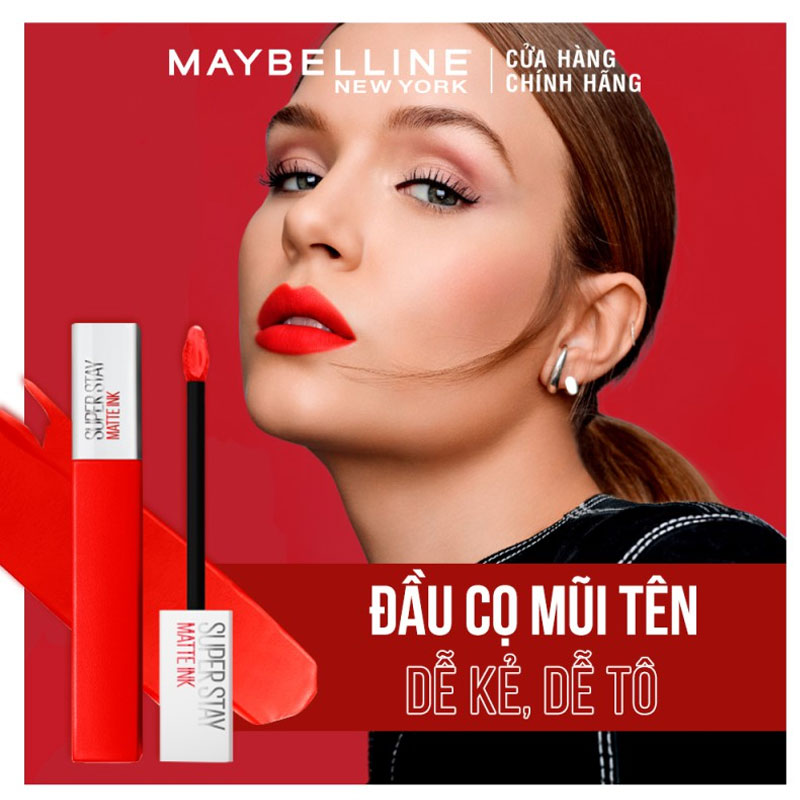 Đầu cọ Son Kem Lì 16h Lâu Trôi Maybelline Superstay Matte Ink Limited Edition 5ml