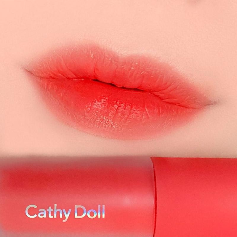 Swatch Son Kem Và Má Hồng Cathy Doll Lip & Cheek Nude Matte Tint 3.5g