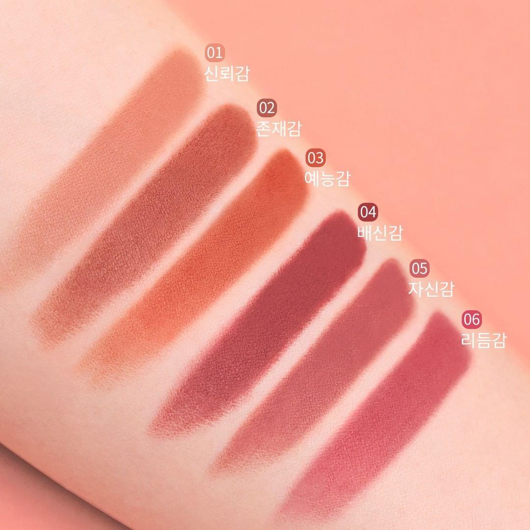 Bảng màu Son Lì Bbia Màu Last Powder Lipstick 3.5g
