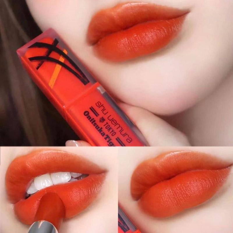 Son Lì Shu Uemura Lâu Trôi Bản Giới Hạn Rouge Unlimited Matte Lipstick x Onitsuka Tiger Limited Edition 3g OR01