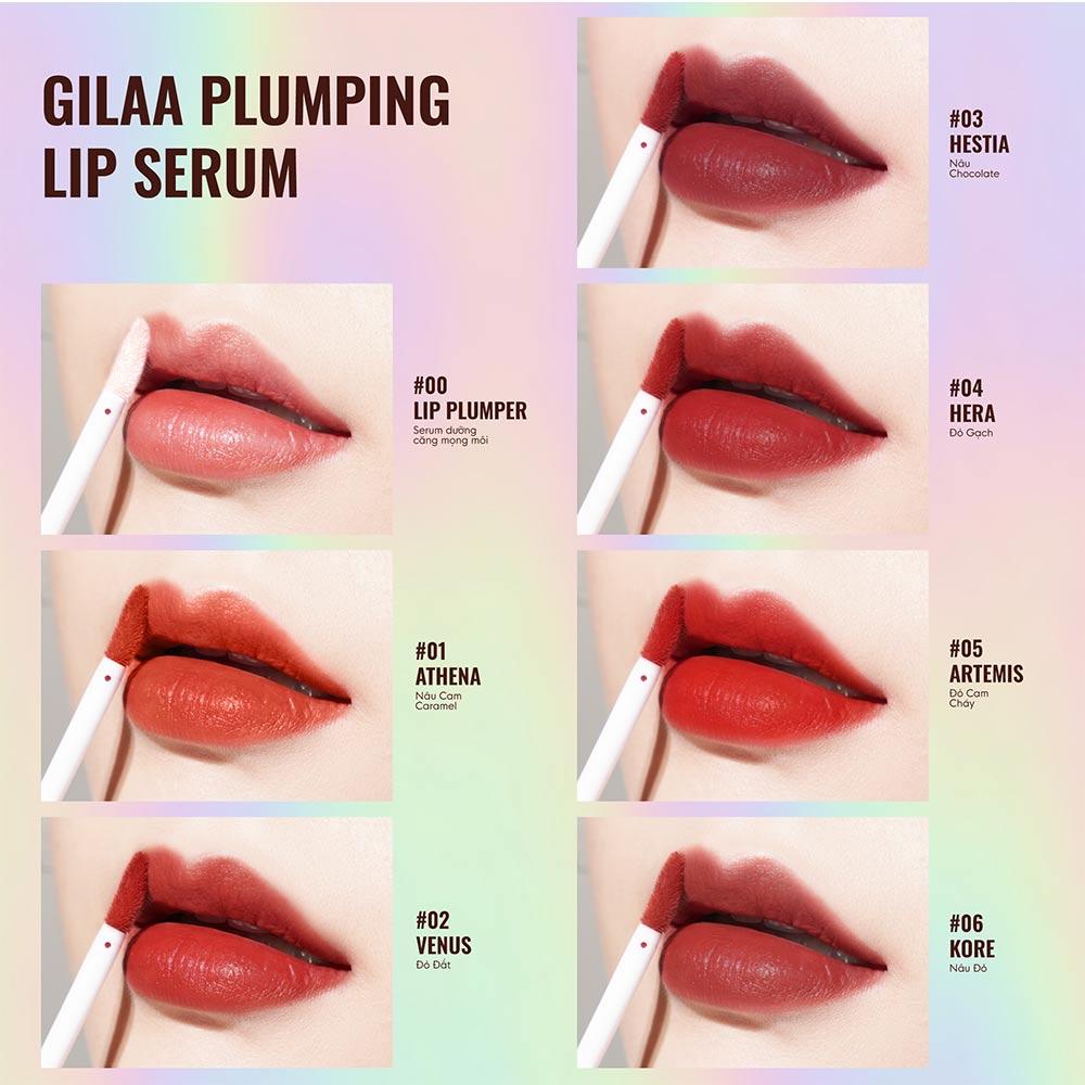 Bảng màu Son Môi Gilaa Plumping Lip Serum 3.6g