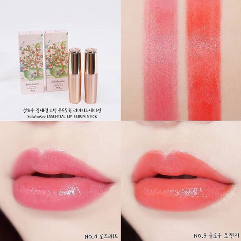 Son Môi Sulwhasoo Dưỡng Ẩm 4 Rose Red Essential Lip Serum Stick