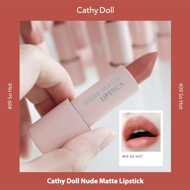 Son Thỏi Cathy Doll Mịn Lì Nude Matte Lipstick Màu 09 So hot