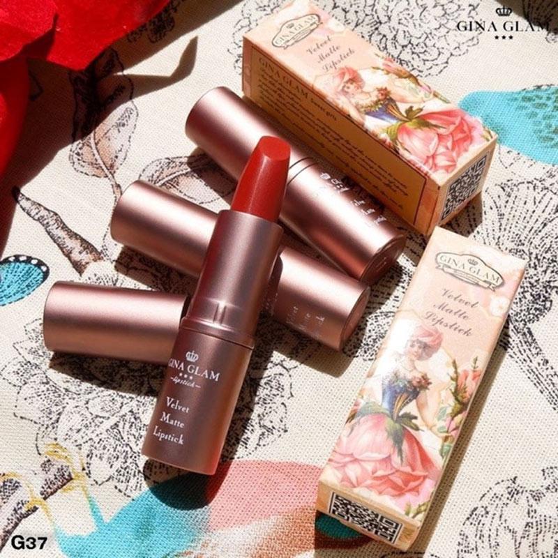 Son Thỏi Gina Glam Velvet Matte Lipstick 4g