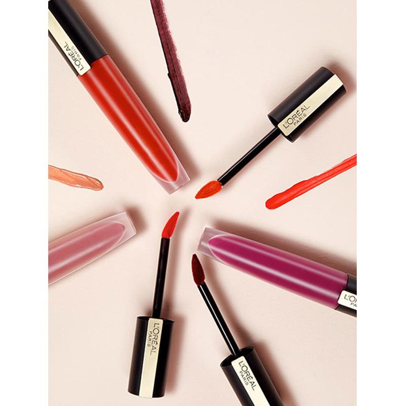 Son Tint L'Oréal Paris Mịn Lì Cao Cấp Rouge Signature Matte Liquid Lipstick (Wild Nudes) 7ml