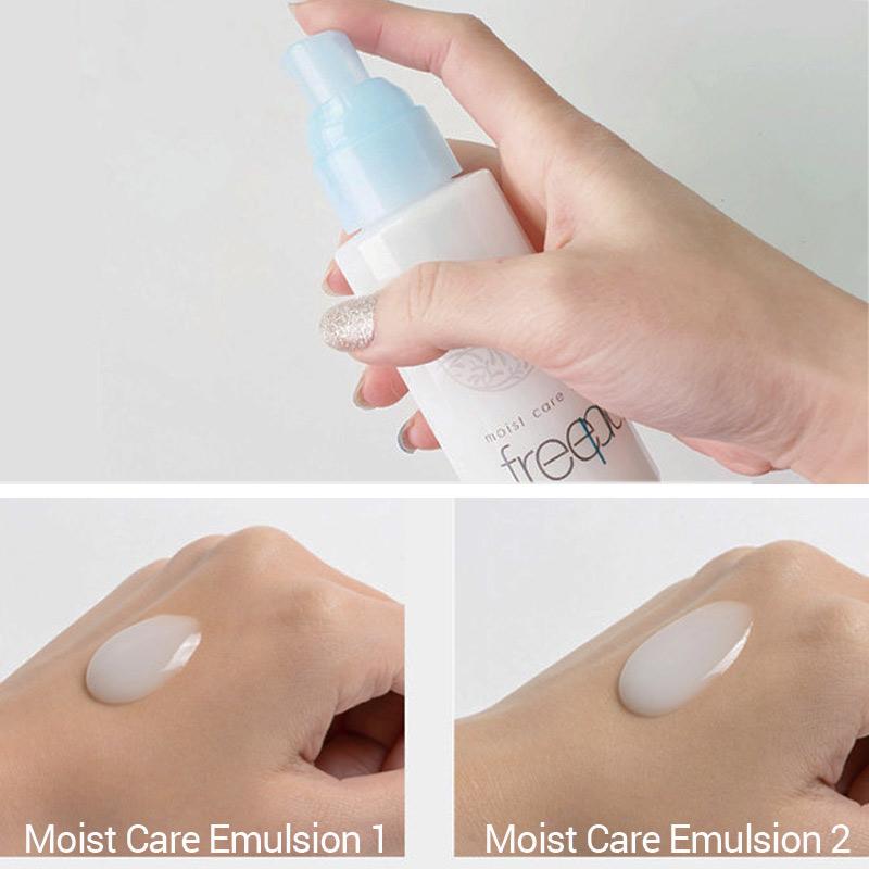Kết cấu Sữa Dưỡng Ẩm Freeplus Dịu Nhẹ Moist Care Emulsion 100ml