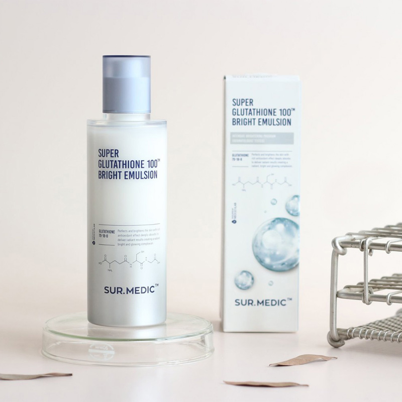 Sữa Dưỡng Sur.Medic+ Super Glutathione 100™00 Bright Emulsion 120ml