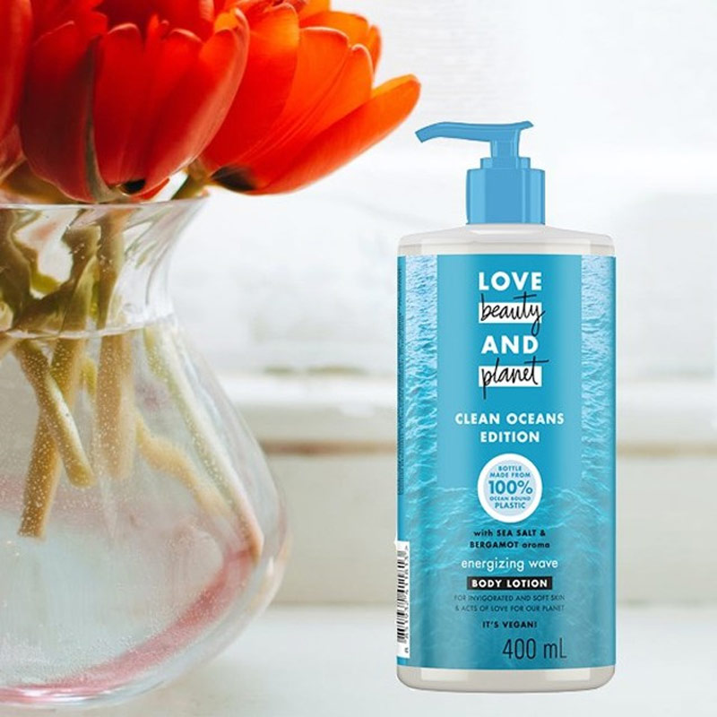 Sữa Dưỡng Thể Love Beauty And Planet Đại Dương Bừng Sức Sống Sea Salt & Bergamot Energizing Wave Body Lotion 400ml