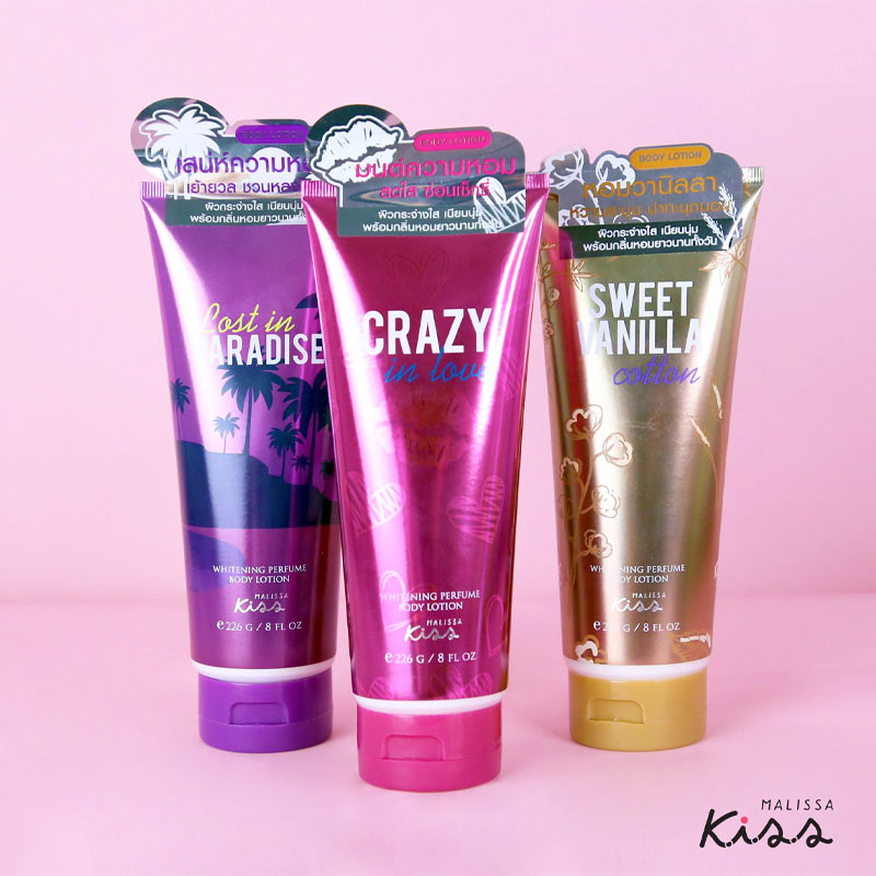 Sữa Dưỡng Thể Malissa Kiss Whitening Perfume Body Lotion 226g