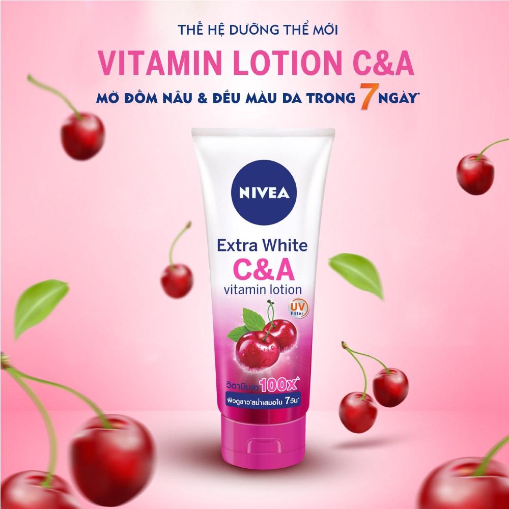 Sữa Dưỡng Thể Nivea Dưỡng Sáng Da Vitamin C & A 180ml
