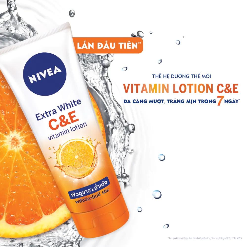 Sữa Dưỡng Thể Nivea Vitamin C & E 180ml