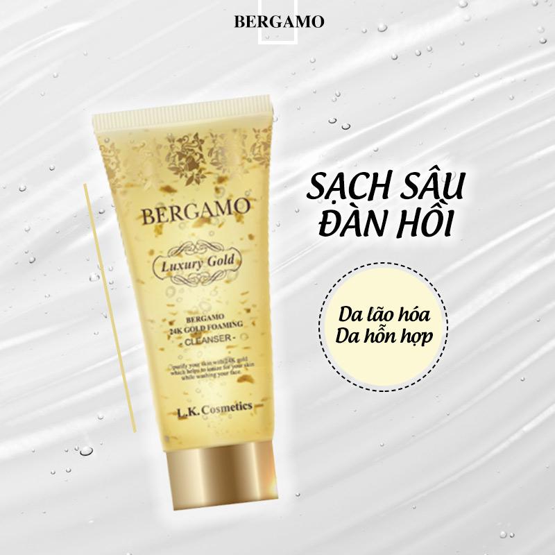 Sữa Rửa Mặt Bergamo Tinh Chất Vàng Ngăn Ngừa Lão Hóa 24k Gold Foaming Cleanser 150ml