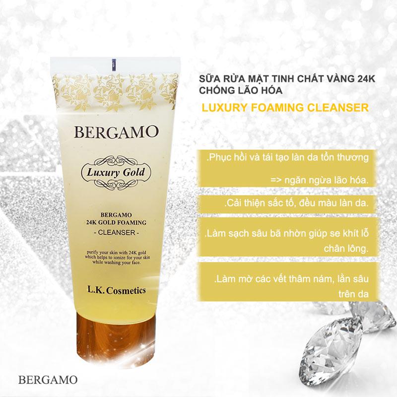 Bergamo 24k Gold Foaming Cleanser 150ml