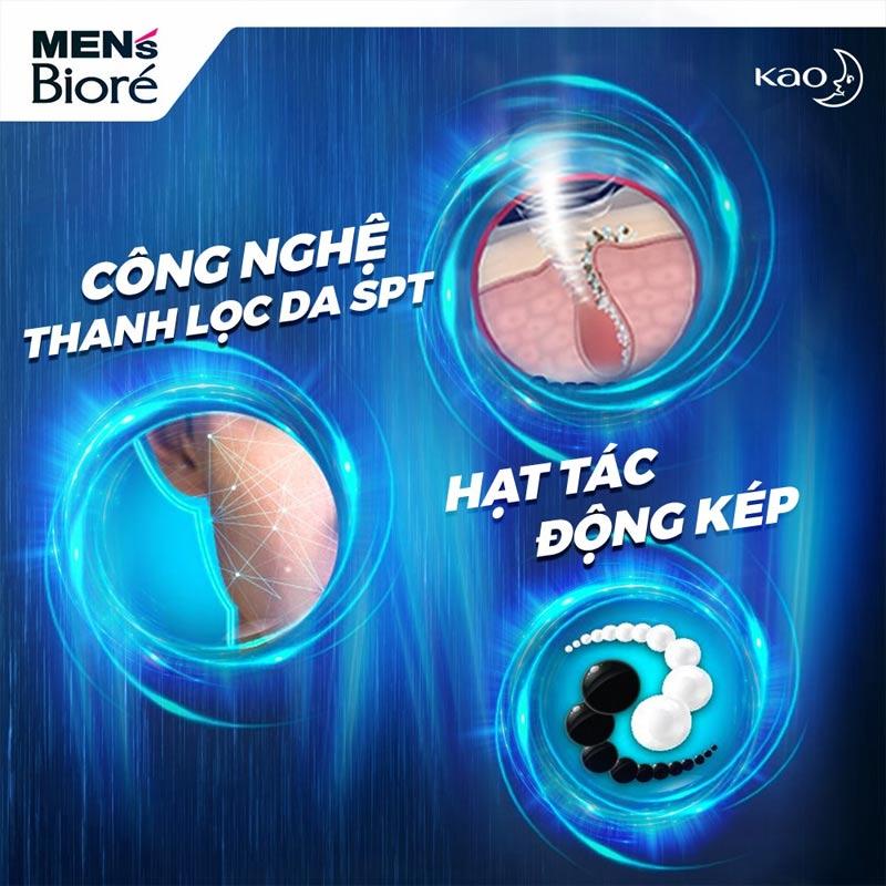 Sữa Rửa Mặt Bioré Cho Nam Hạt Tác Động Kép Double Scrub Facial Foam