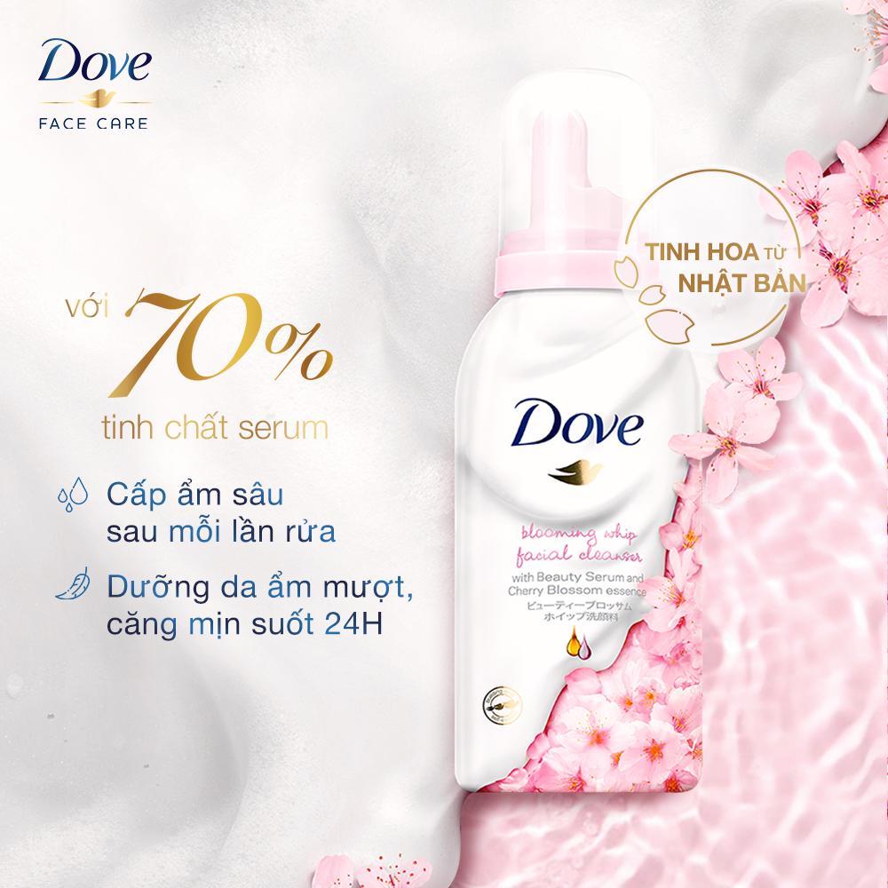 Thành phần Sữa Rửa Mặt Dove Tạo Bọt Dưỡng Ẩm Tinh Chất Hoa Anh Đào 150g