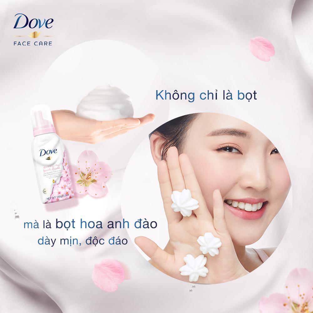 Sữa Rửa Mặt Dove Tạo Bọt Dưỡng Ẩm Tinh Chất Hoa Anh Đào