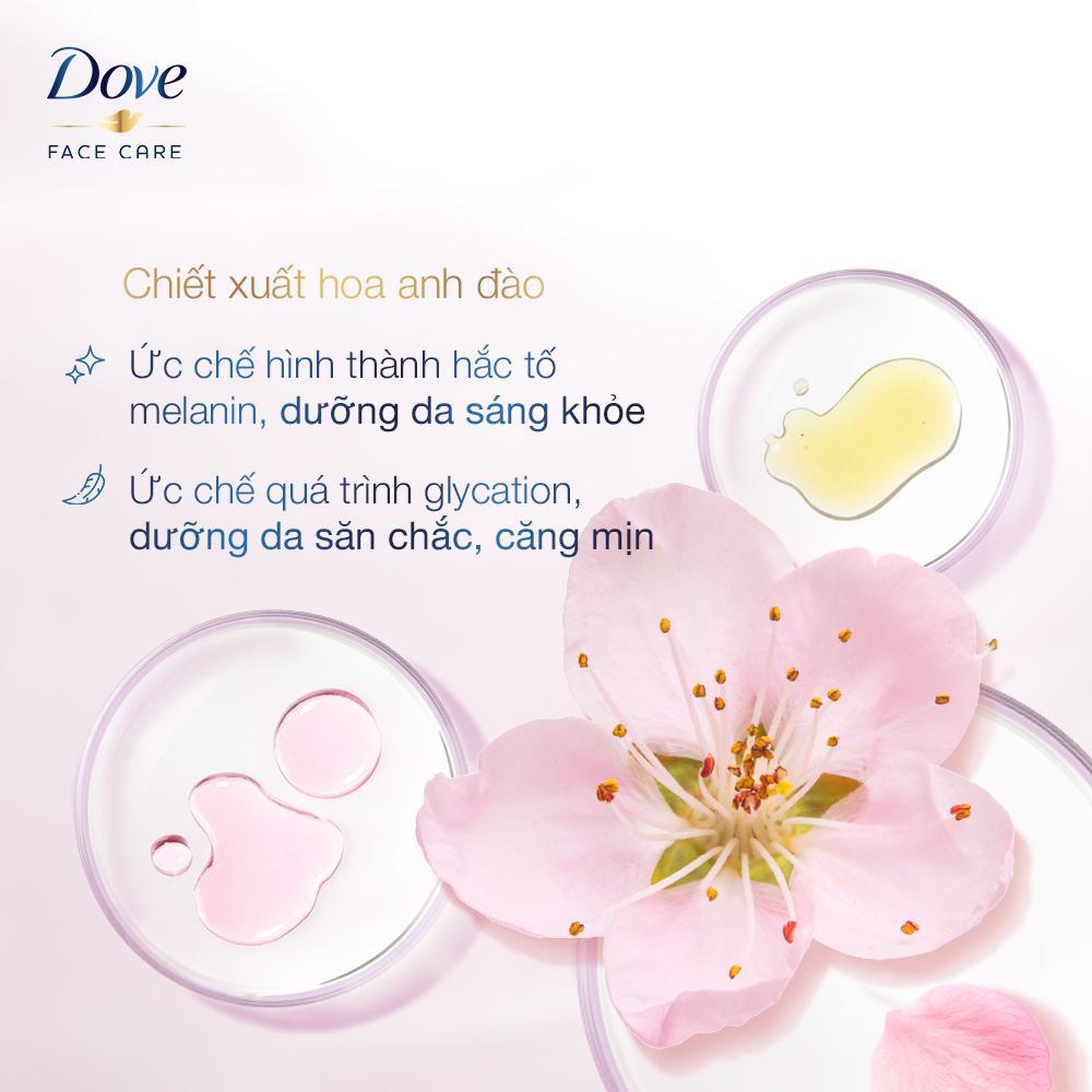 Thành phần Sữa Rửa Mặt Dove Tạo Bọt Dưỡng Ẩm Tinh Chất Hoa Anh Đào