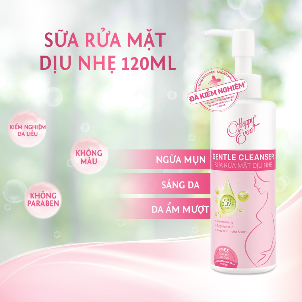 Sữa Rửa Mặt Happy Event Dịu Nhẹ Cho Da 120ml