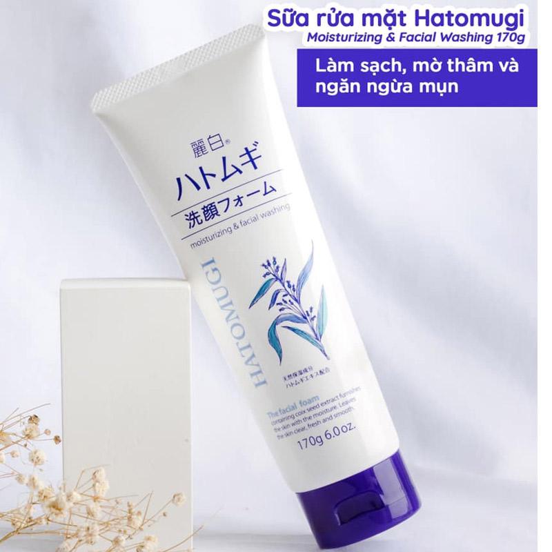 Sữa Rửa Mặt Hatomugi Chiết Xuất Ý Dĩ Làm Sáng Da Moisturizing & Facial Washing The Facial Foam 170g