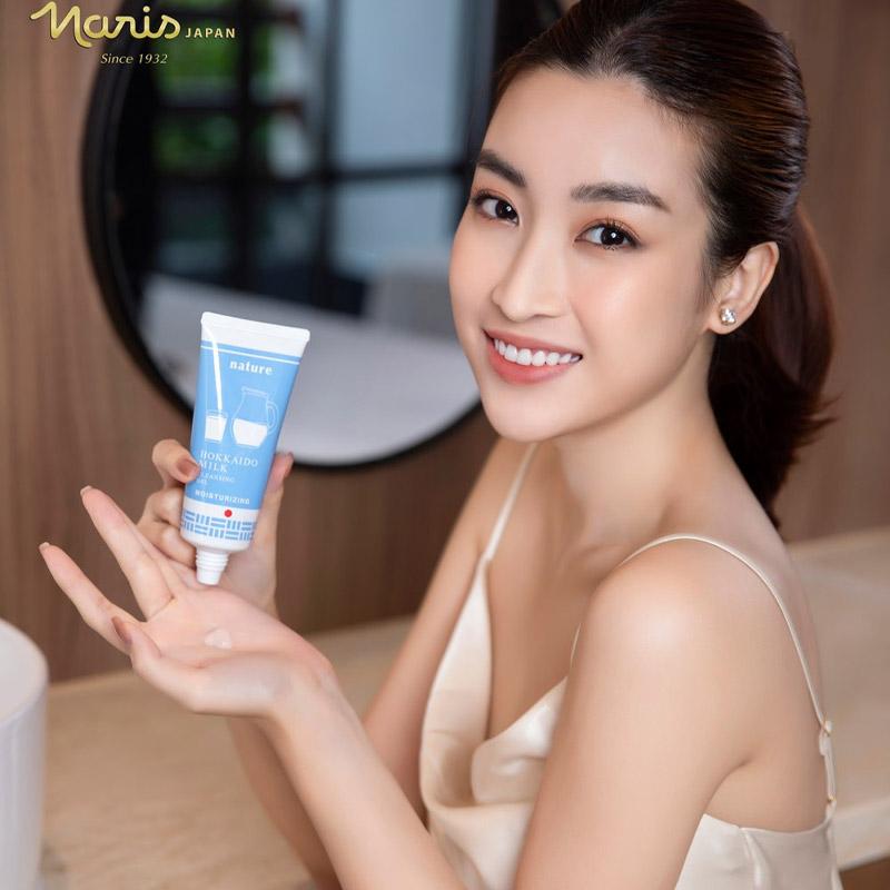 Gel Rửa Mặt Naris Cosmetics Nature Hokkaido Milk Cleansing Gel 100g Hasaki