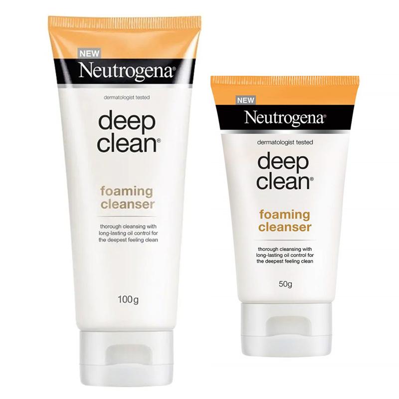 Sữa Rửa Mặt Neutrogena Làm Sạch & Kiểm Soát Nhờn Deep Clean Foaming Cleanser