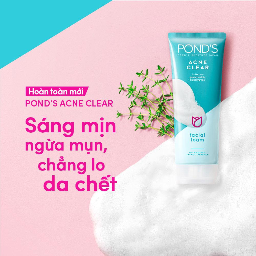 Sữa Rửa Mặt Pond's Làm Sáng Da Ngăn Ngừa Mụn 100g Hasaki