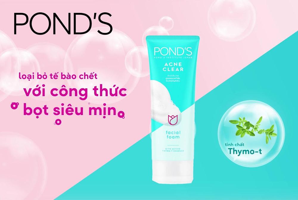 Sữa Rửa Mặt Pond's Làm Sáng Da Ngăn Ngừa Mụn 100g
