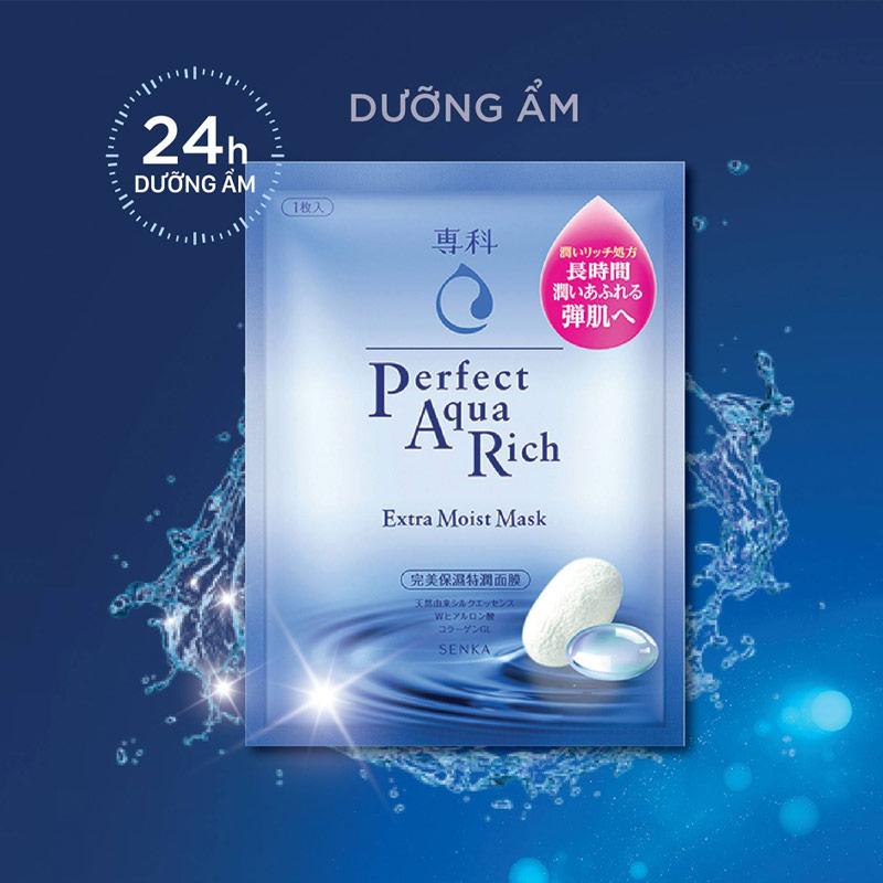Mặt Nạ SENKA Cấp Ẩm Cho Da Perfect Aqua Rich Extra Moist Mask 25ml