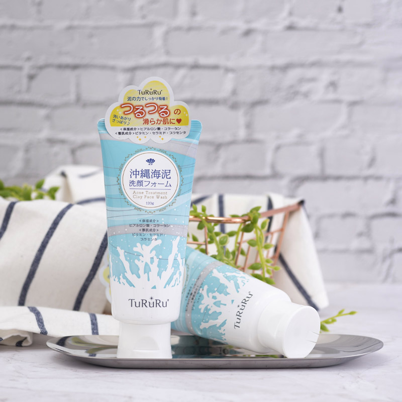 Sữa Rửa Mặt TuRuRu Làm Giảm Mụn Từ Bùn Khoáng Acne Treatment Clay Face Wash