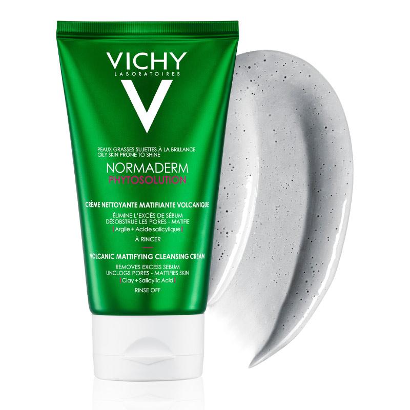 Sữa Rửa Mặt Vichy Chiết Xuất Từ Đất Sét Và Đá Khoáng Núi Lửa Normaderm Phyto Volcanic Mattifying Cleansing Cream 125ml