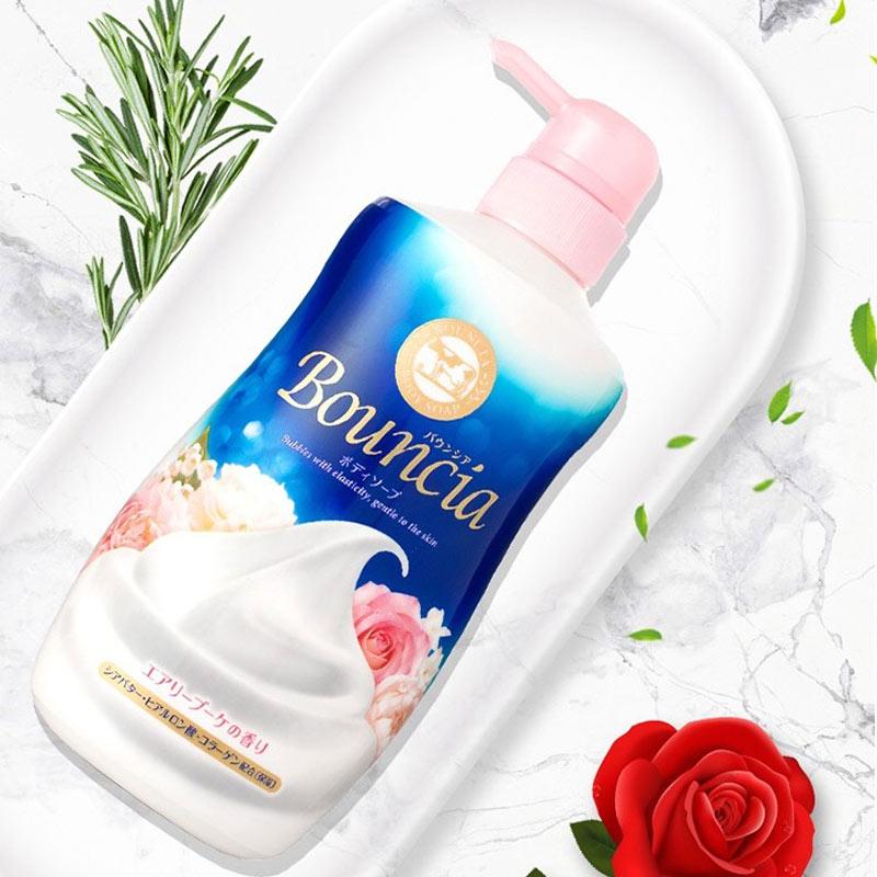 Sữa Tắm Bouncia Tinh Chất Sữa Hương Hoa Hồng Body Soap Airy Bouquet Scent With Pump 500ml