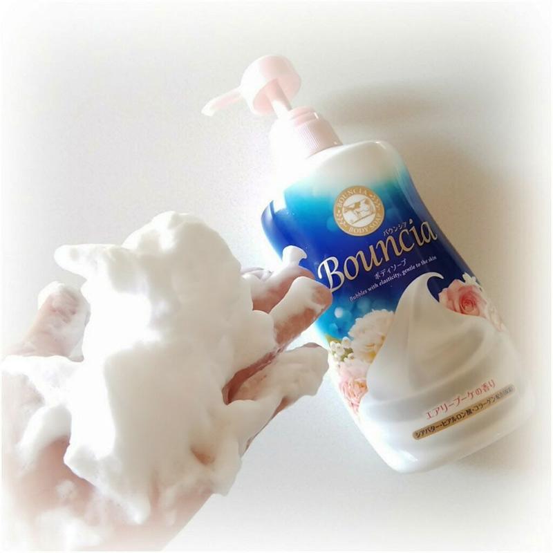 Sữa Tắm Bouncia Tinh Chất Sữa Hương Hoa Hồng Body Soap Airy Bouquet Scent With Pump