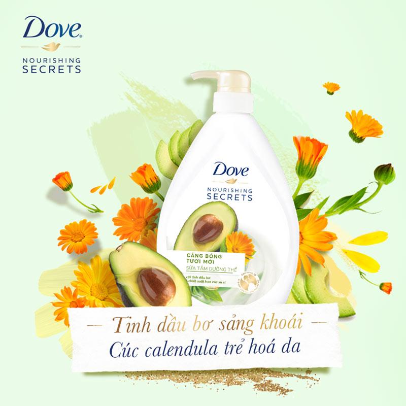 Sữa Tắm Dove Từ Tinh Dầu Bơ & Hoa Cúc 530g