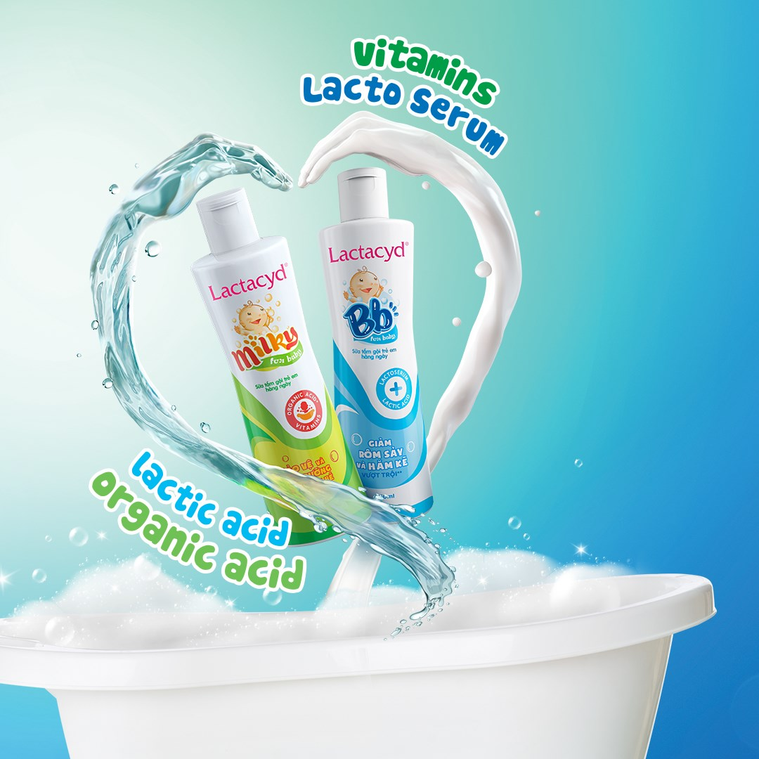 Sữa Tắm Gội Trẻ Em Lactacyd