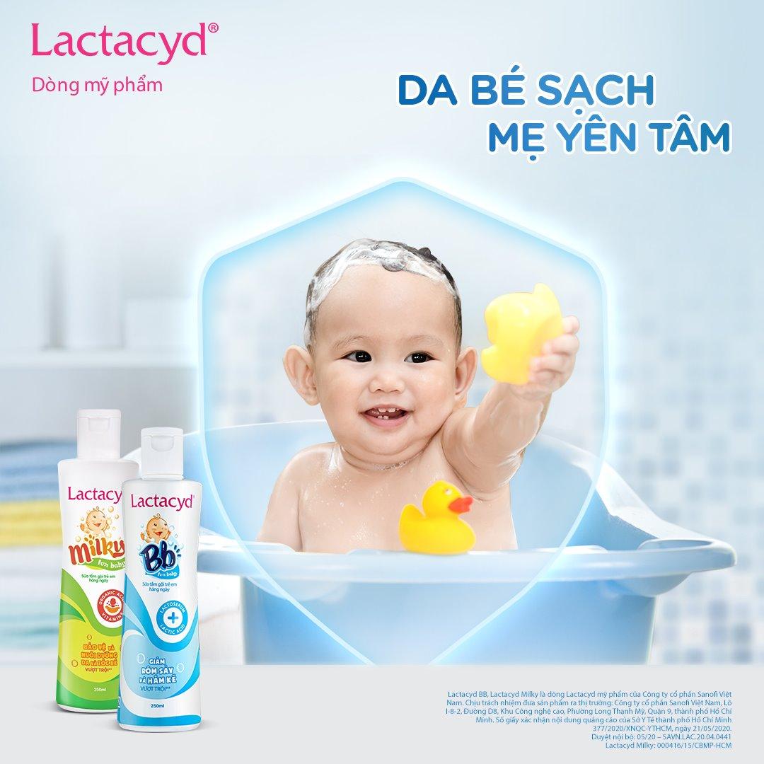 Sữa Tắm Gội Trẻ Em Lactacyd Hasaki