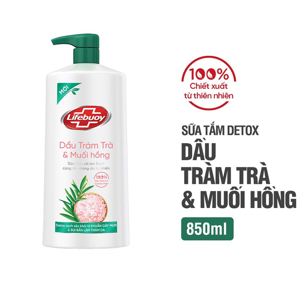 Sữa Tắm Lifebuoy Detox Tràm Trà & Muối Hồng