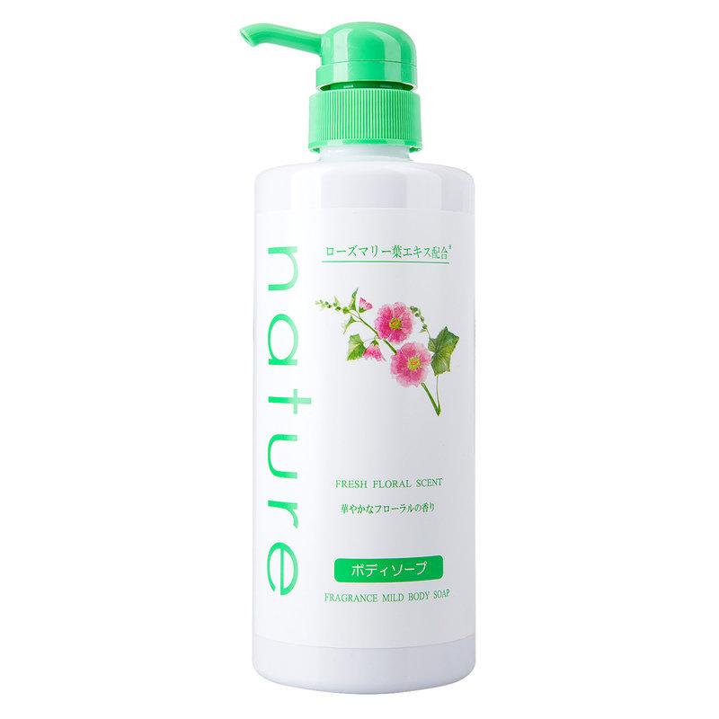 Sữa Tắm Naris Nature Dịu Nhẹ Hương Hoa Tươi Mát Fresh Floral Scent Fragrance Mild Body Soap 500ml
