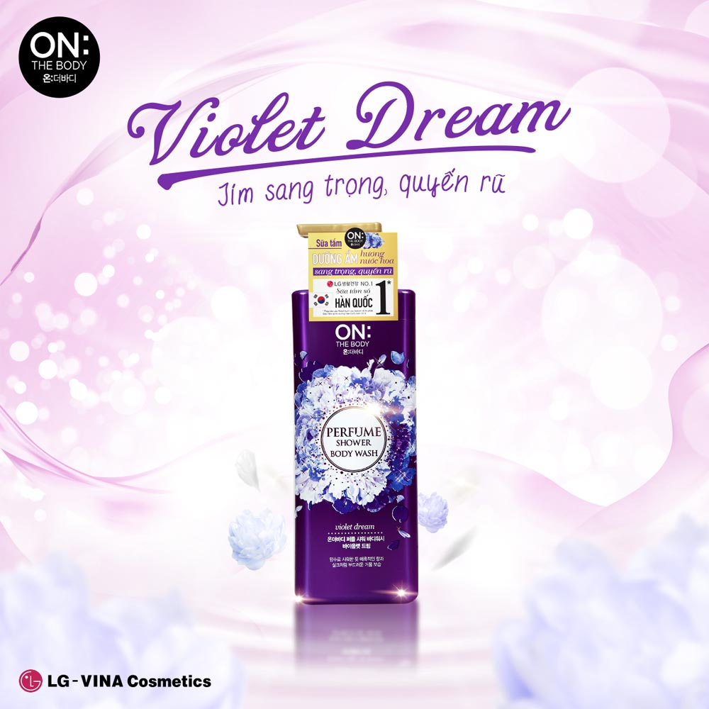 Sữa Tắm On: The Body Dưỡng Ẩm Nước Hoa Violet Dream Perfume Shower Body Wash Violet Dream 500g