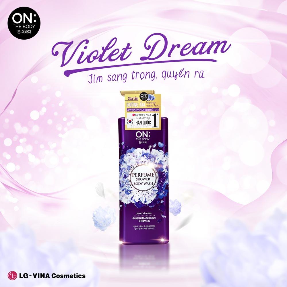 Sữa Tắm On: The Body Dưỡng Ẩm Nước Hoa Violet Dream Perfume Shower Body Wash Violet Dream 500g