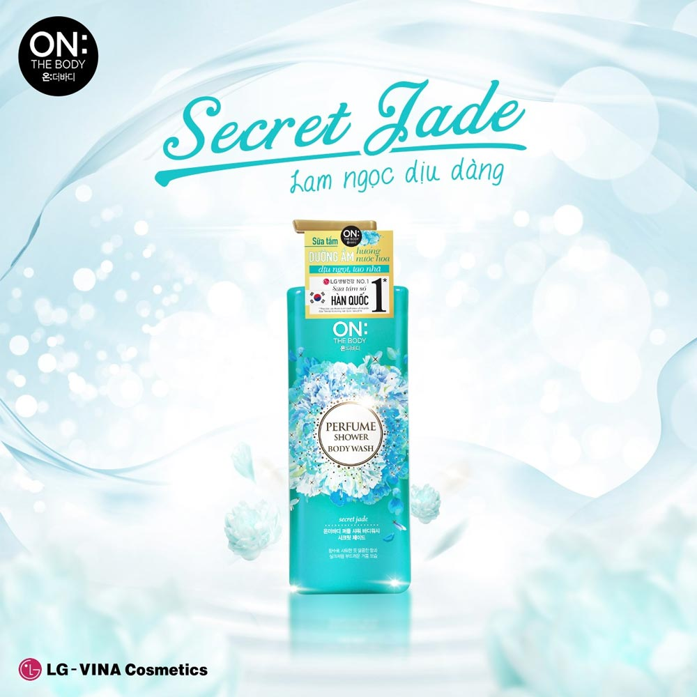 Sữa Tắm On: The Body Dưỡng Ẩm Nước Hoa Secret Jade Perfume Shower Body Wash Secret Jade 500g